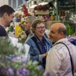 Lucio Farinelli, Luca Ramacciotti, Ilse Beunen al mercato dei fiori