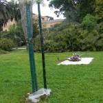 Installazione realizzata all'Orto Botanico di Roma