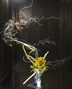 Ikebana per vetrina di Campomarzio 70