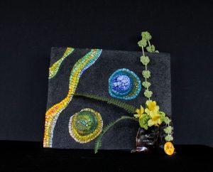 Ikebana e mosaico